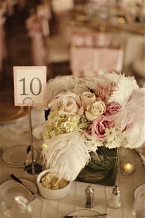 elegant pink white  feathers louisville wedding