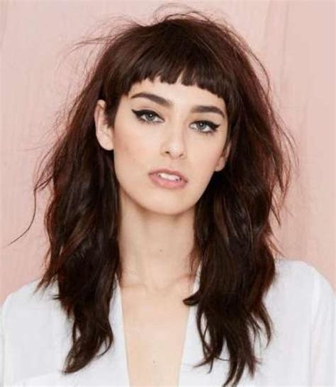 collection  short fringe long hairstyles