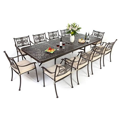 Garden Table And Chairs Sale by 10 Seat Cast Aluminium Outdoor Dining Sets