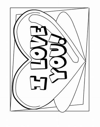 Coloring Sheets Heart Say Printable Valentines Colouring
