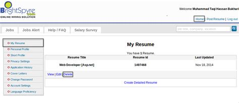 How To Delete My Resume Account by Resume Creation And Update Resume Brightspyre Faqs 1 1