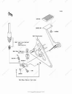 Kawasaki Motorcycle 2007 Oem Parts Diagram For Brake Pedal    Torque Link