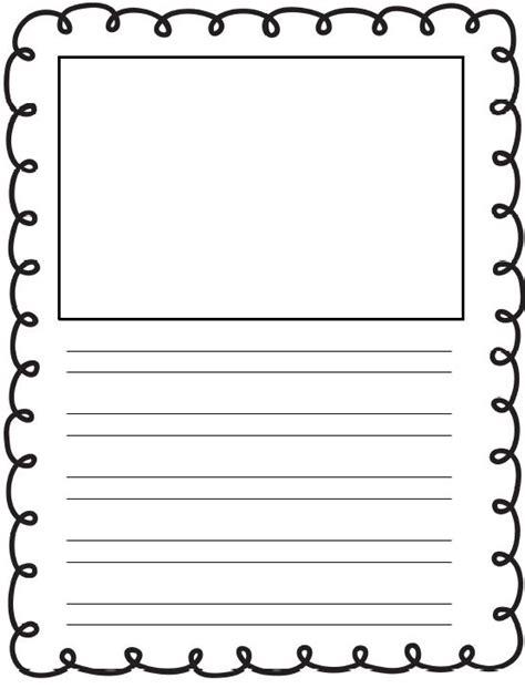 preschool handwriting paper printable kindergarten writing paper with picture box 858