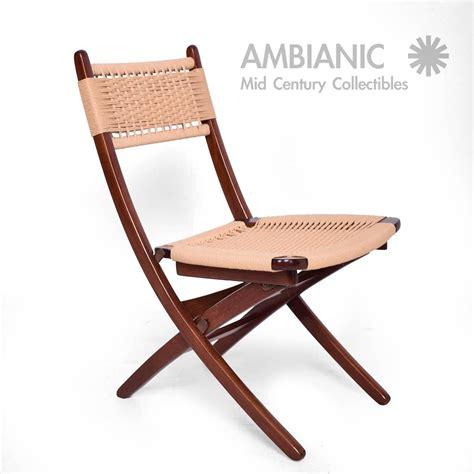 mid century modern rope folding chairs wegner style