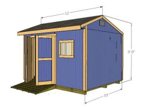 Saltbox Shed Plans 10x12 by Wood Shed Plans 12x10 Saltbox Shed Plans