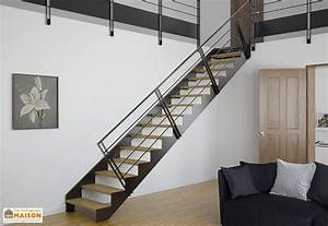 Star Stairs Treppen : double limons tokyo pour escalier droit en acier ~ Markanthonyermac.com Haus und Dekorationen