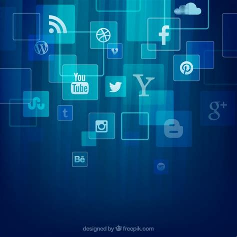 Social Media Background Social Media Icons Background Vector Free