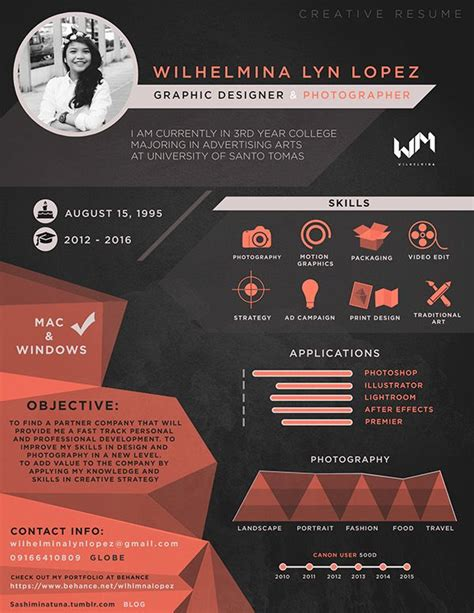 resume for graphic designers 30 best resumes for creative fields images on pinterest