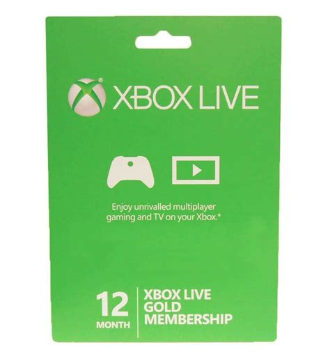 1 xbox live xbox 360 xbox one live 12 month gold membership card subscription new ebay