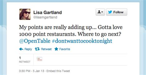 opentable 1000 point tables tweet of the week 1 000 point reservations help you earn