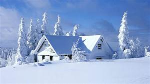 Beauty Snow House HD Wallpaper, Background Image ...