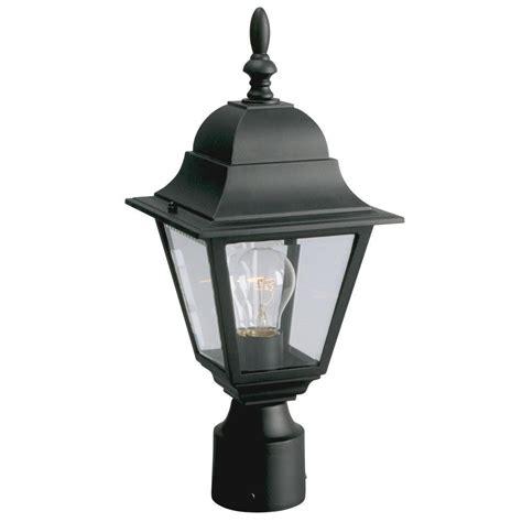 kitchen lighting fixtures filament design negron 1 light outdoor black post lantern 5633