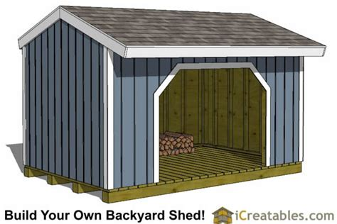 8 x 16 shed plans 8x16 firewood shed plans icreatables