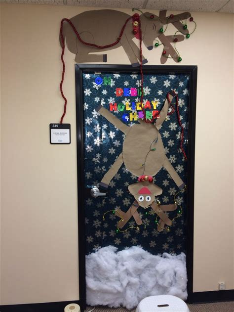 door decoration for christmas christmas door decoration christmas pinterest