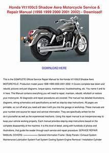 Honda Vt1100c3 Shadow Aero Motorcycle Service By