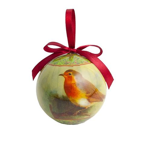 traditional robin bauble from gisela graham at the