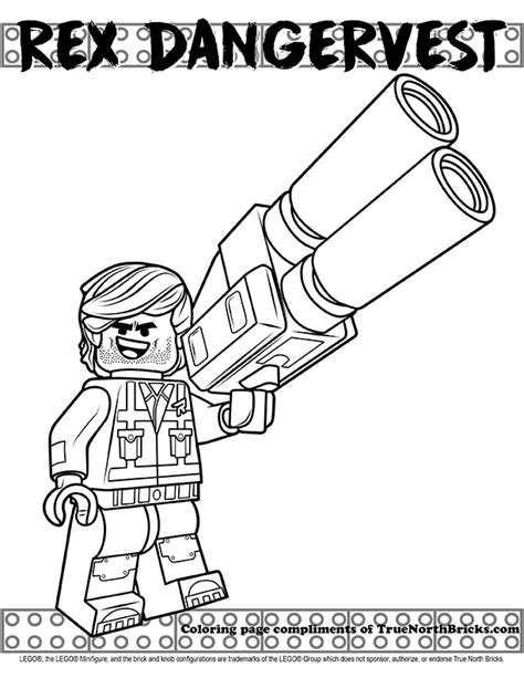 coloring page rex dangervest true north bricks