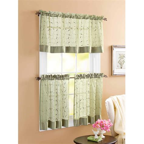 Kitchen Window Curtains Walmart by Cosy Kitchen Window Curtains Walmart Excellent Kitchen