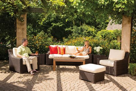 brown outdoor furniture rocky mountain patio