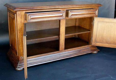 decorative wood cabinet feet custom walnut wood bun foot cabinet with doors and drawers