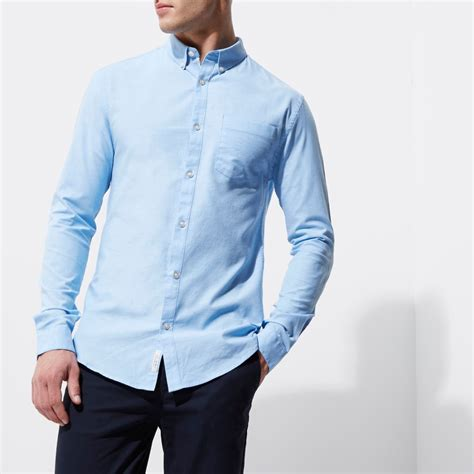 light blue fit oxford shirt shirts sale