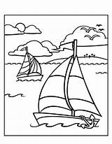 Coloring Pages Sailboat Summer Elementary Sheets Colorat Printable Boat Colouring Students Adult Planse Cu Vara Beach Desene Cliparts το Drawing sketch template