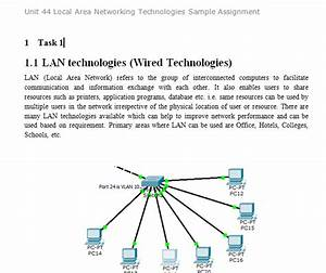 Unit 44 Local Area Networking Technologies Sample ...