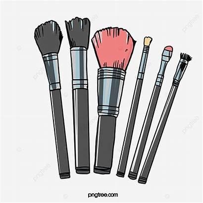 Brush Makeup Cartoon Clipart Psd Painted Transparent