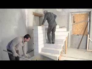 Bricolage Avec Robert : monter un escalier b ton double quart tournant en kit ~ Nature-et-papiers.com Idées de Décoration