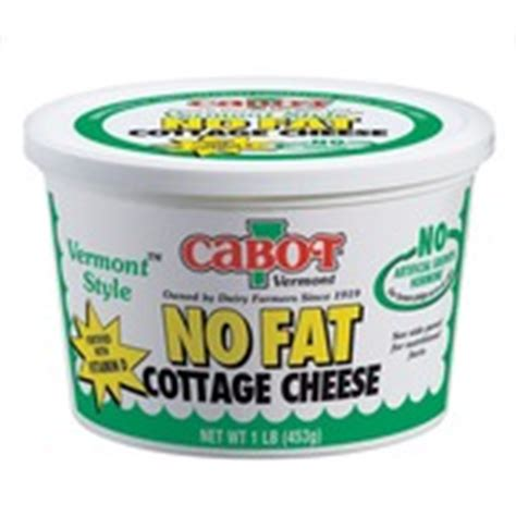 nonfat cottage cheese cabot vermont nonfat cottage cheese calories nutrition