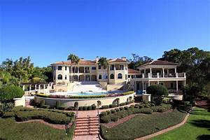 129 Million Mediterranean Waterfront Mansion In