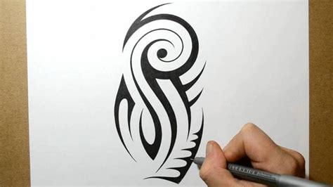designing  tribal upper arm  sleeve tattoo design  youtube