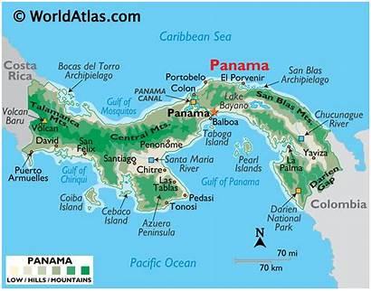 Panama Map America Worldatlas Central Maps Cities