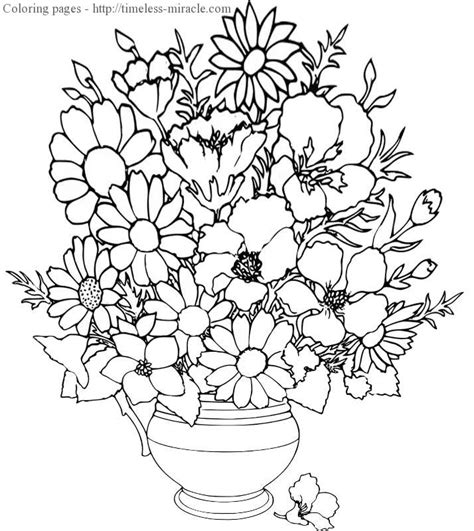 complicated flower coloring pages sketch coloring page