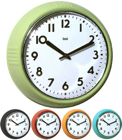 green kitchen clocks green retro wall clock retro clocks for my kitchen 1397