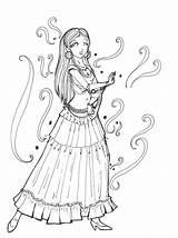 Gypsy Coloring Pages Sketch Deviantart Cigana Dance Template Tattoo Para Desenho Bailando Colorir Adult Adults sketch template