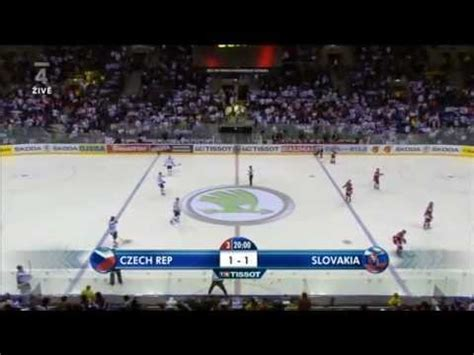Český hokej organizuje na centrální úrovni extraligu, i. MS v hokeji 2011 Česko - Slovensko 3.třetina - YouTube
