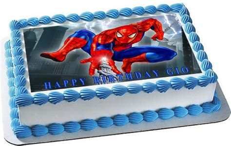spiderman  edible birthday cake topper