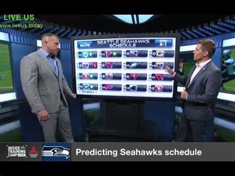 predicting seahawks schedule nfl network youtube