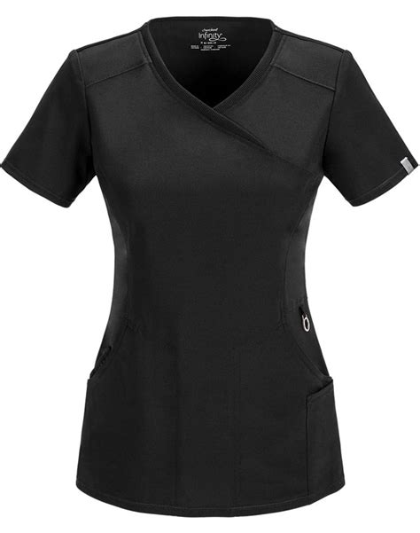 mock two panel top scrubs tops 2625a infinity womens