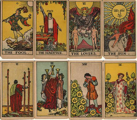 The picture suggests you are buying the latest edition of the rider waite tarot with restored original font titles by pamela colman smith. Rider Waite Tarot early editions - The World of Playing Cards