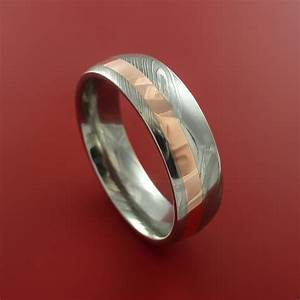 damascus steel and copper ring wedding band custom made to With timascus wedding ring