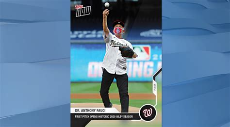 Sometimes this doesn't mean dealing directly with the sports card. Fauci's baseball card just became one of the best selling in Topps' history