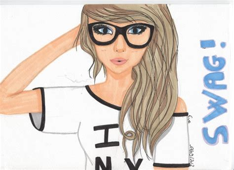 blondasse swagy we it dessin and swag