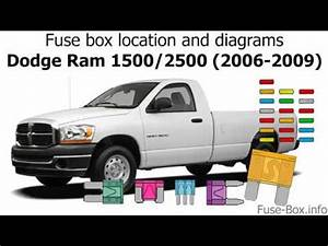 2009 Dodge Ram 2500 Fuse Box : fuse box location and diagrams dodge ram 1500 2500 2006 ~ A.2002-acura-tl-radio.info Haus und Dekorationen