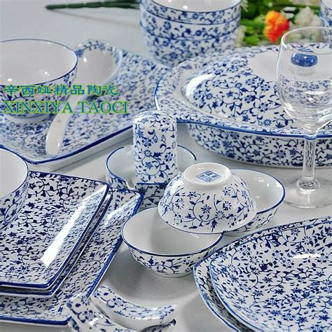 1640 blue and white dish sets 56 tableware allotypy quality blue and white dinnerware