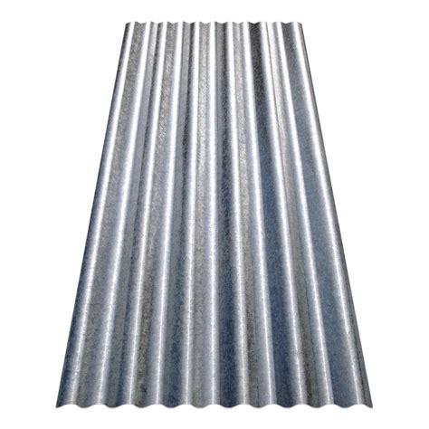 8 Ft Corrugated Galvanized Steel Utilitygauge Roof Panel