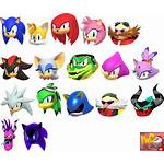 Sheet Icons Character Mobile Sonic Tokyo Olympic
