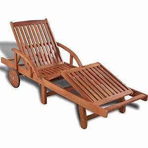 Bain De Soleil En Bois : vidaxl bain de soleil en bois ajustable 5 positions 41446 jardin piscine ~ Teatrodelosmanantiales.com Idées de Décoration