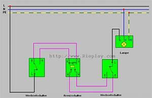 Wechselschaltung Mit 3 Schaltern Und 3 Lampen